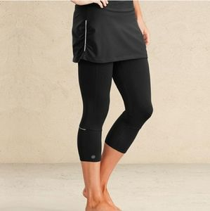 Athleta SM 2 in 1 Contender Leggings Black